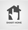 smart home icon vector image vector image