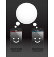 Smiling modern phones vector image vector image