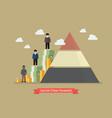 social class pyramid vector image vector image