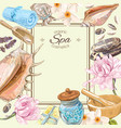 Spa lotus frame vector image
