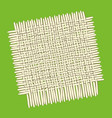 square bamboo mat vector image vector image