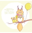 squirrel happy birthday vector image