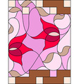 Stained glass window Composition of stylized vector image vector image