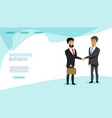 successful business partners web page vector image