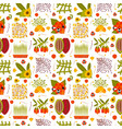 super food seamless pattern vector image