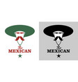 symbolic image mexican man with mustache and vector image vector image