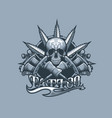 tattoo machines skull and marijuana leaf vector image vector image