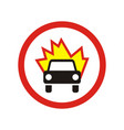 the movement of vehicles is prohibited sign vector image
