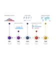 Timeline infographic with diagrams charts vector image