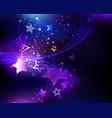 violet star vector image vector image