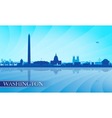 Washington city skyline silhouette background vector image vector image