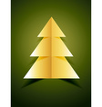 creative golden xmas tree vector image