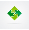 Set of color puzzle logo vector image