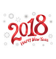 2018 happy new year design modern red text design vector image vector image