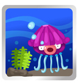a Jellyfish underwater background vector image vector image