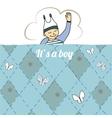 bashower card with little boy sleep vector image vector image