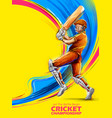 batsman playing cricket championship sports vector image