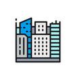 big city megapolis landscape flat color line icon vector image