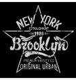 Brooklyn print design vector image vector image
