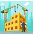 Building construction cartoon vector image vector image