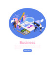 business management page design vector image vector image
