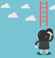 business woman concept missing ladder climbing vector image