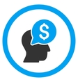 Businessman Think Rounded Icon vector image vector image