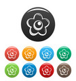 choco flower icons set color vector image vector image