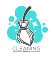 cleaning service isolated icon broomstick and vector image vector image