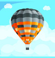 colorful realistic air balloon among blue sky vector image vector image