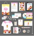 corporate identity items for bakery vector image vector image