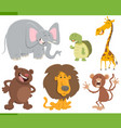 cute animals cartoon set vector image vector image
