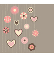 cute flowers3 vector image vector image