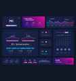 dashboard infographics trading platform vector image vector image