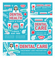 dental care clinic and dentistry medical checkup vector image vector image