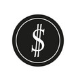 dollar sign black icon on vector image vector image