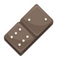 domino tile for playing board game piece icon vector image