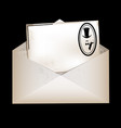 envelope and retro male card vector image vector image