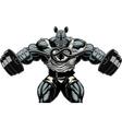 Ferocious Rhino athlete vector image vector image