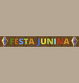 festa junina banner vector image vector image