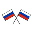 flag of russia stylization of national banner vector image vector image