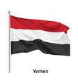 flag republic yemen vector image vector image