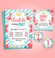flamingo birthday invitation pool party vector image vector image