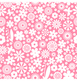 flower white pattern vector image vector image