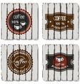 Four coffee labels vector image vector image