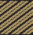 golden double chain seamless pattern vector image