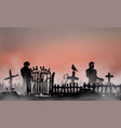 halloween related landscape with undead people vector image vector image