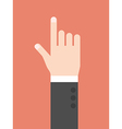 Hand with index finger vector image vector image