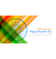 happy republic day indian flag background vector image