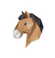 horse head with polygonal geometric style vector image